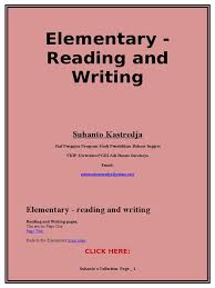 reading and writing practice for elementary level reading