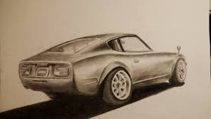classic cars drawings awesome car drawing datsun nissan 240z youtube