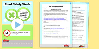 road safety assembly script and powerpoint assembly road