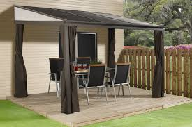 Patio Gazebo Sojag Portland 12 Ft W X 10 Ft D Aluminum Wall Mounted Patio