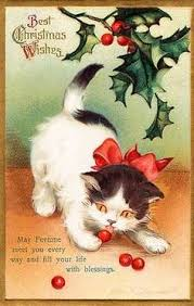 merry kitty christmas vintage christmas christmas cards and