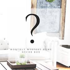 home decor subscription box monthly mystery home decor box subscription gable lane