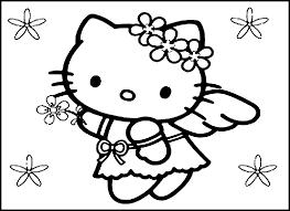 hello kitty christmas coloring page free printable hello kitty