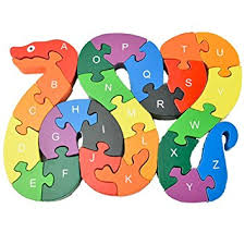 dd wooden jigsaw puzzles winding snake toys letter