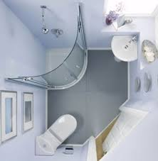 bathroom clever and interesting corner theme small space floor