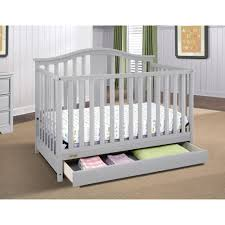 Gray Convertible Cribs by Graco Solano 4 In 1 Convertible Crib With Drawer Pebble Gray