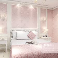 Light Blue And Silver Bedroom Modern Continental 3d Stereoscopic Relief Nonwoven Wallpaper Pink