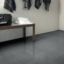 one piece porcelain 3x3 grid top viewb grey floor tile bathroom
