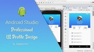 tutorial android xml unique profile ui design in android xml tutorial youtube