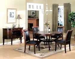 astounding formal dining room decoration using rounded wooden
