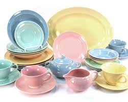 Dining Room Plate Sets by Vintage Lu Ray Pastels 1947 To 1952 For The Home Pinterest
