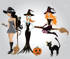 halloween witch royalty free cliparts vectors and stock