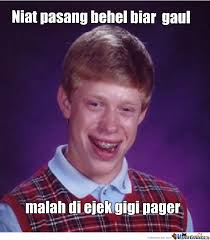 Indonesian Meme - bad luck brian indonesian by baby nal meme center