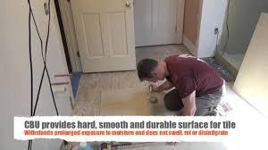 How To Tile A Bathroom Floor Remodeling A Bathroom Part 9 Installing Tile Underlayment Youtube