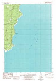 Topographic Map Of Michigan by Point Aux Barques Topographic Map Mi Usgs Topo Quad 45086g3