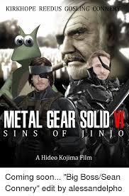Metal Gear Solid Meme - kirkhope reedus go ng conner metal gear solid s i n s o f i n a