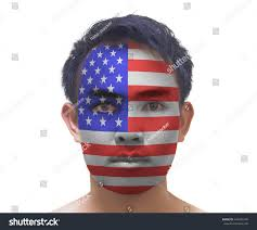 How To Paint American Flag Portrait Asian Man Painted American Flag Stock Photo 444396196