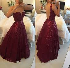 maroon quinceanera dresses hot saes burgundy lace gown prom dresses backless the