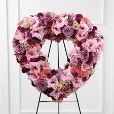 heart wreath beloved open heart wreath spray at send flowers