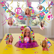 barbie party table idea party city