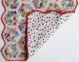 grandmother u0027s flower garden doll quilt u2013 tied u2013 q is for quilter