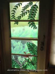 stained glass door film stained glass film living room traditional with decorative window