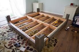 Diy Bed Platform Bedroom Outstanding Diy Bed Frame Inside Sturdy Wooden Modern
