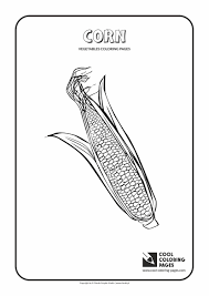 corn coloring page cool coloring pages