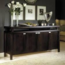 havana contemporary style espresso finish buffet server cabinet