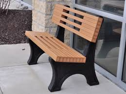 recycled plastic garden bench home decoration ideas designing