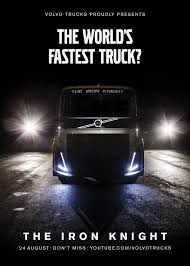 volvo trucks youtube volvo teases world record high speed run with 2 400hp iron knight