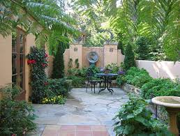 minimalist courtyard landscaping ideas with natural black stone