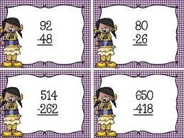 free subtraction with regrouping task cards by not so wimpy teacher