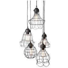 Chandelier Bulb Wire Five Pendant L With Edison Bulbs By Pottery Barn Design