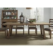 Dining Room Furniture Ct by A America Cattail Bungalow Trestle Dining Table Hayneedle