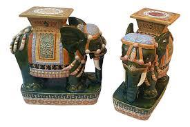 porcelain elephant vintage vietnamese porcelain elephant garden stools a pair