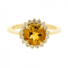 november birthstone rings diamond and citrine ring citrine wedding ring november