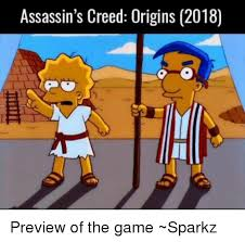 Meme Origins - assassin s creed origins 2018 preview of the game sparkz meme on