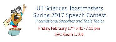 Table Topics Toastmasters Ut Sciences Toastmasters