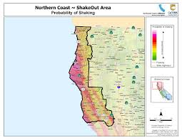 Washington State Earthquake Map by The Great California Shakeout North Coast Area