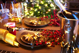 New Year Dinner Decorations by Christmas Party Table Decorations Ideas