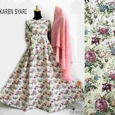 desain baju jepang gamis katun jepang karen b058 terbaru baju muslim remaja