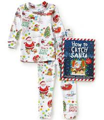 books to bed how to catch santa pajama and book set the