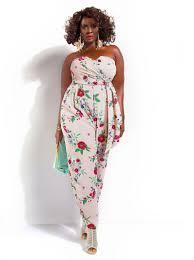 jumpsuit for plus size jumpsuit monif c plus sizes sydney strapless jumpsuit the