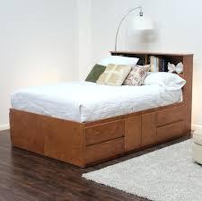bed frame with hidden storage black storage platform bed queen