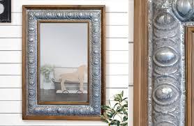 Metal Framed Mirrors Bathroom Rustic Wood Framed Mirror Metal Framed Mirror Farmhouse Decor