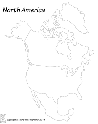 Blank Map Of Middle America by Outline Base Maps
