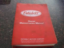 peterbilt 359 362 310 truck owners maintenance repair shop