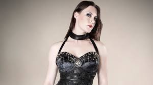 floor jansen women brunette singer nightwish leather