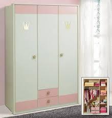 schrank kinderzimmer kinderzimmer kleiderschrank schrank 139cm 3 türig weiß rosa neu